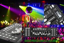 MIXER DJ PROFESSIONALE CENTRALINA LUCI DMX CONTROLLER LED STROBO 192 CH