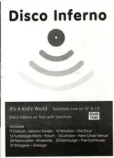 """NEWSPAPER CLIPPING/ADVERT 8/10/94PGN36 7X5"""" DISCO INFERNO : IT'S A KIDS WORLD"""