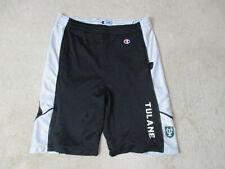 Champion Tulane Green Wave Shorts Adult Medium Black White Basketball Gym Mens
