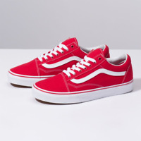 Vans Old Skool Red Skateboarding Shoes Classic Canvas Suede New without box