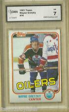 1981 Topps Wayne Gretzky #16  GMA 7 NM Oilers