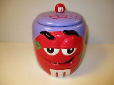 15593ea034d M M s Galerie 2004 Ceramic Cookie Canister Jar Purple Red M M ...