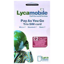 1000 x LycaMobile UK Sim Cards Loose (trio-sim) BIN