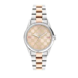 Womens Wristwatch FURLA EVA R4253101520 Stainless Steel Gold Rose Bicolor NEW