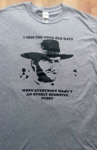 overly sensitive pussy T-shirt, punk, goth,Clint Eastwood,Motorhead,slayer,metal