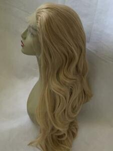 """UK-STOCKNew Mix Blonde Layered Heat Resistant Silky Synthetic Lace Front Wig 24"""""""