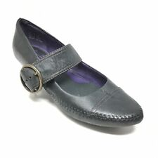 Women's Indigo by Clarks Mary Jane Loafers Heels Shoes Size 7M Black Leather J7
