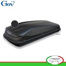 Gev E9019 - BOX BAULE UNIVERSALE PORTABAGAGLI AUTO EASY BLACK 430 LT NERO OPACO