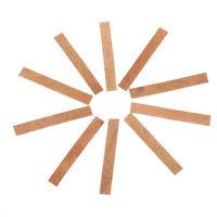 10× 81x11x2mm Bb Clarinet Neck Joint Cork Sheet Natural Cork Tenon Clarinet Part