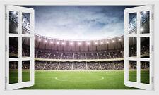 3D Fenster Fußballstadion Stellplatz Anblick Wandaufkleber,Wandbild,