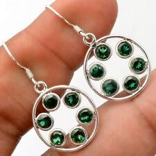 Green Tourmaline 925 Sterling Silver Earrings Jewelry 7311