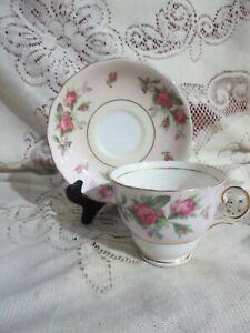 Vintage Royal Standard England Tea Cup & Saucer Floral Gold Trim