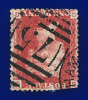 1864 SG43Wi 1d Red (Wmk-Inv) Plate 220 GG Birmingham 75 Good Used Cat £35 cnld