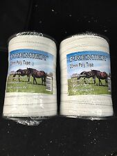 Electric fencing tape 2 rolls of 20mm x 200m white  400m total length