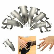 6x Stainless Steel Finger Guitar Pick Plectrums for Banjo Guitar Bass Ukulele