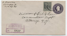 1945 Schenectady NY 24 cent prexie on registered cover [y1653]
