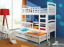 Etagenbett Hochbett Kinderbett Doppelbett VIKI 3 Pesonen 90x200 cm Stockbett