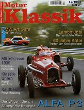 Motor Klassik 12/95 1995 Alfa P3 Ford Eifel Opel P4 Mustang Lamborghini Miura SV