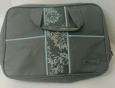 Kurgo Grey Floral Accent Pattern Tote With Zipper 2 Front Pockets Packing Cube