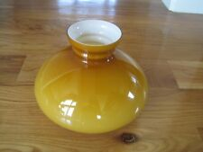 Oil Lamp Shade Glass Yellowish Brown Vintage Chimney
