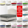 Full 100% Fitted Sheet Bed Sheets 25cm Deep Pillow Cases Single Double King Size