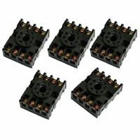 5 Pcs 8-Pin Screw Terminals PF083A Relay Base Socket for Time Delay