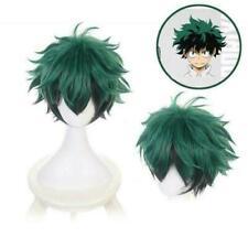 Cosplay Wig Anime My Hero Academia Deku Izuku Midoriya Green Black Short Hairs