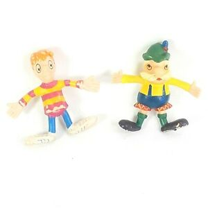 Jack In The Box Imperial 1970's Bendy Figures Burger Meister and Small Fry