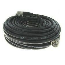 NEW 100 ft RG8X coax UHF male PL259 connector amateur ham radio CB antenna cable