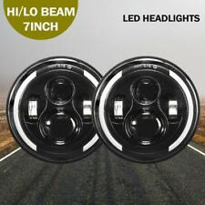 """DOT Approved 7""""inch LED Headlight Angle Eyes for Jeep Wrangler VW Beetle Classic"""