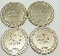 100 Pruta Old Israeli Coin Rare Hebrew Jewish Money Collection Since 1949