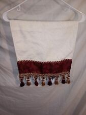 Croscill Home Rare Tiffany Embellished Hand Towel Burgundy w/ Beads NOS w/ tag