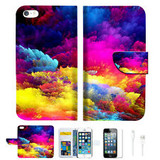 Colorful Cloud Wallet  Case Cover For Apple iPhone 6 6S -- A021