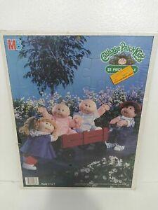 Vintage Cabbage Patch Kids 25 Piece Frame Tray Puzzle Wagon 1984 Milton Bradley