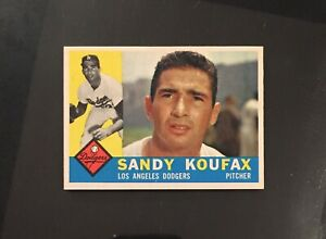 1960 Topps #343 Sandy Koufax NMMT/NM+! PACK FRESH! (MT SURFACE!) NMMT CENTERED!
