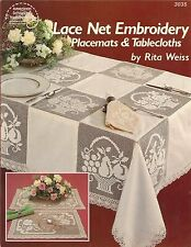 Net Lace Embroidery Placemats & Tablecloths Darning Patterns Rita Weiss ASN 3035
