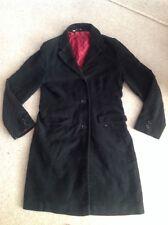Boden Black Velvet Coat With Purple Spotty Lining SIze 14