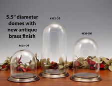 Glass Display Dome with Antique Brass Base, Collectables, Protection, #820-DB