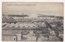 Entrada a la Darsena Notre Buenos Aires Argentina Vintage Postcard 417a ^