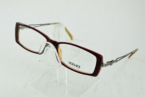 NEW Versace Mod 3010 141 Red Silver Rectangle Eyeglasses 52/15/130 Italy