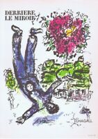 Marc Chagall Derriere Le Miroir Poster Offset Lithograph 10'' x 14'' 1966
