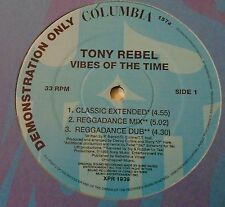 """TONY REBEL ~ Vibes Of The Time ~ 12"""" Single DEMO"""