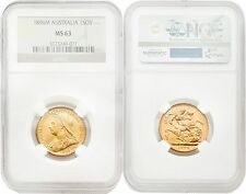 Australia 1896-M Sovereign Gold NGC MS63