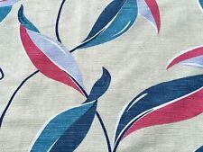 SALE! Mid Century Tropicale' Barkcloth Era Vintage Fabric Drape Curtain 11 Avail