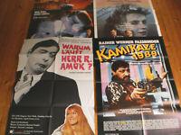 4 x A1 Filmplakate,KONVOLUT,SAMMLUNG, von RAINER WERNER FASSBINDER