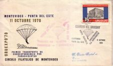 URUGUAY 1970 FIRST PARATROOPER FLIGHT MONTEVIDEO-PUNTA DEL ESTE CIARDI V 100