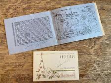Lot of 2 Vintage Custom Made Christmas Cards Santa 1939 1940 Art Deco