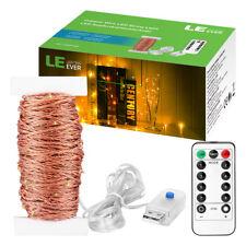 20M 200 LEDs USB Lichterkette Kupferdraht Zeitschaltuhr Merkfunktion Warmweiß N2
