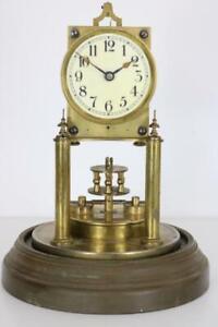 GUSTAV BECKER ANTIQUE ANNIVERSARY 400 DAY CLOCK disc pendulum RESTORE