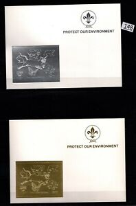 /// GUYANA - MNH - GOLD+SILVER - SCOUTS, DOGS, CATS, DINOSAUR, BUTTERFLY